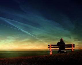 Обои Задумчивость: Скамейка, Старость, Воспоминания, Задумчивость, Настроения