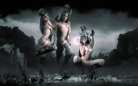 Обои Валькирии: Девушки, Крепость, Готика, Кости, Валькирии, Настроения