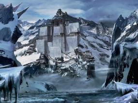 Обои Крепость в Китае: Горы, Снег, Крепость, Китай, Строения, Настроения