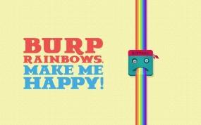 Обои BURP RAINBOWS. MAKE ME HAPPY!: Вектор, Радуга, Настроения
