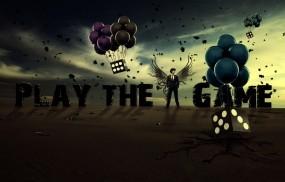 Обои Play The Game: Парень, Игра, Кости, Воздушные шары, Настроения