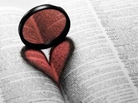 Обои Любовь к книгам: Сердце, Книга, Линза, Настроения