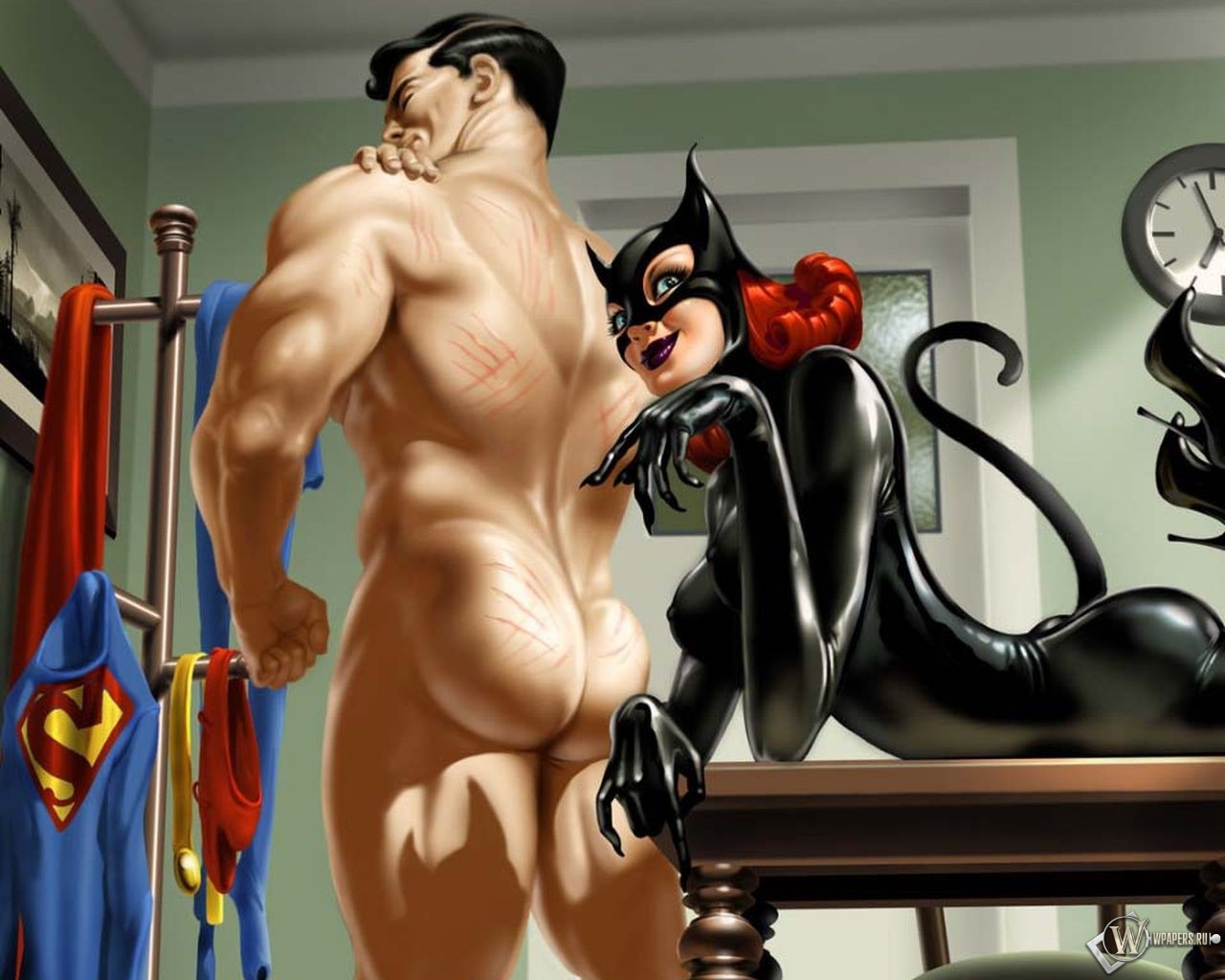 Catwoman and Superman 1280x1024