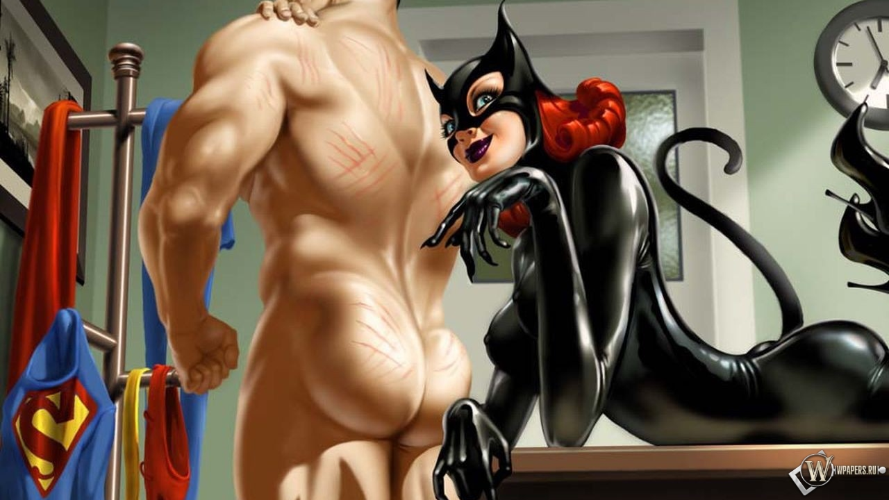 Catwoman and Superman 1280x720