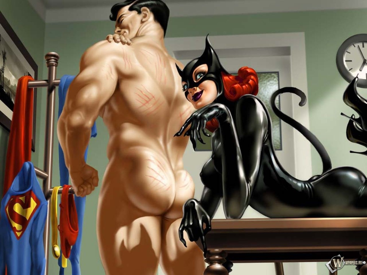 Catwoman and Superman 1280x960