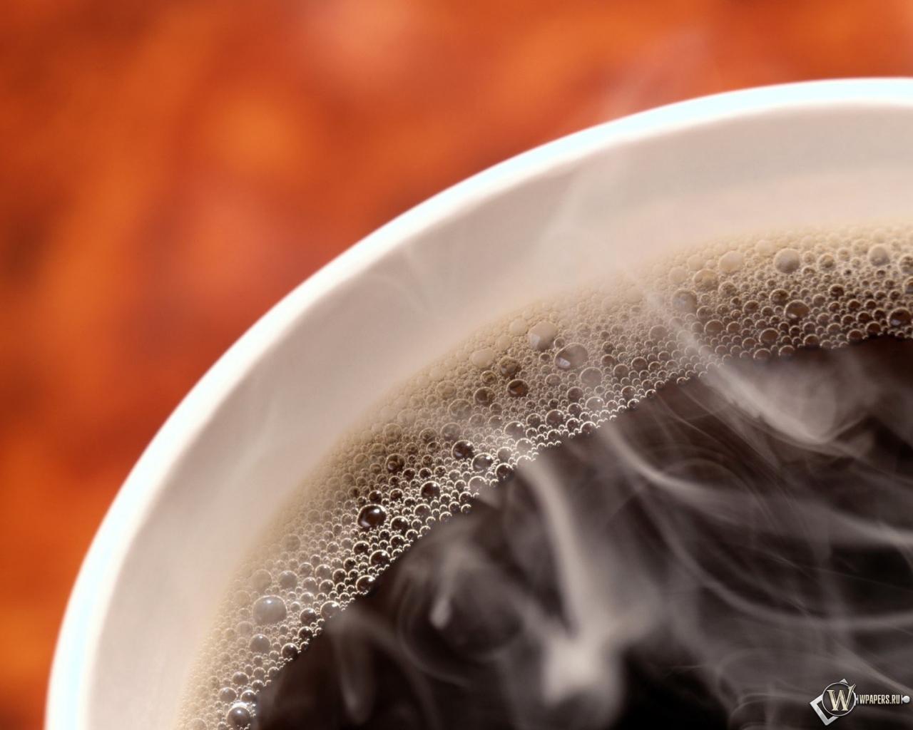 Черный кофе 1280x1024