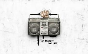 Обои Нет музыки нет жизни: Жизнь, Музыка, Магнитофон, Музыка