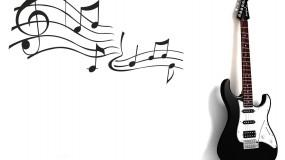 Гитара на белом фоне