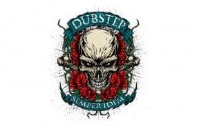Обои DubStep череп: Музыка, Эмблема, DubStep, Музыка