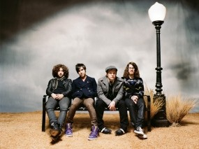 Обои Fall Out Boy: Скамейка, Фонарь, Fall out boy, Музыка