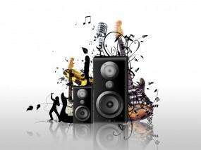 Обои Гитары с усилителями: Гитара, Музыка, Колонки, Музыка
