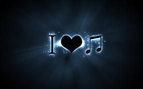 Обои Я люблю музыку: Знак, Символ, Музыка, Текст, Музыка