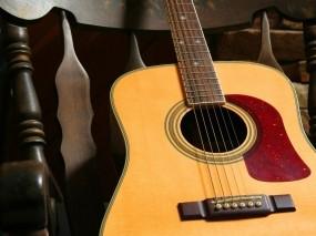 Обои Акустическая гитара: Кресло, Гитара, Музыка, Струны, Музыка