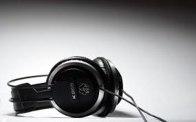 Обои Чёрные наушники: Музыка, Наушники, Музыка