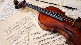 Обои Скрипка : Музыка, Скрипка, Ноты, Музыка