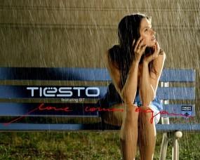 Обои Tiesto: Девушка, Дождь, Tiesto, Музыка