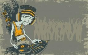 Обои Dj: Винил, Толпа, DJ, Пульт, Музыка