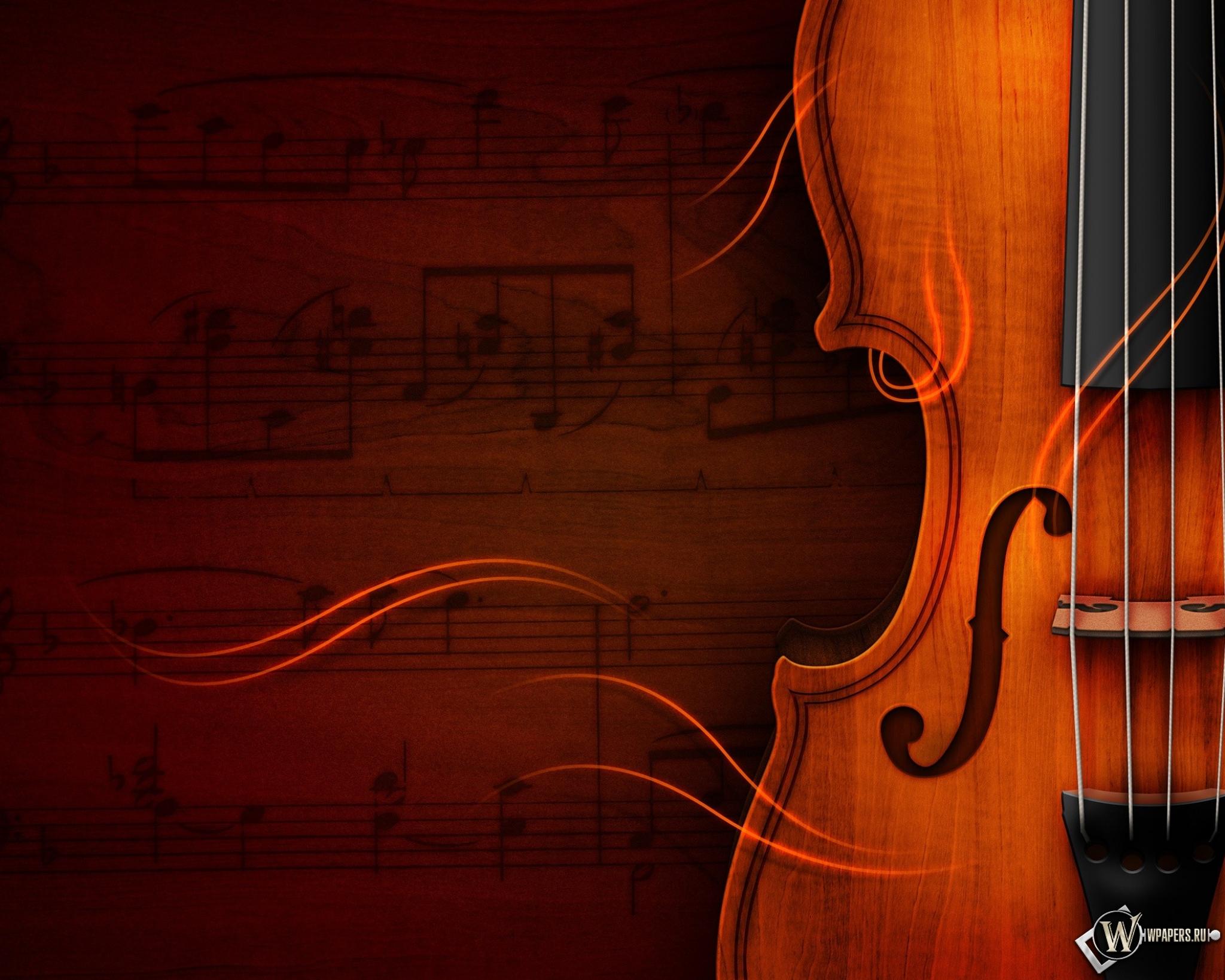 Обои рабочего стола скрипка 7