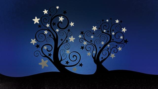 Деревья со звёздами