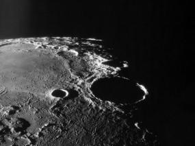 Обои Лунный кратер: Луна, Тень, Кратер, Космос