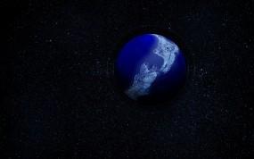 Обои Планета в воде: Планета, Звёзды, Космос