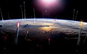 Обои Вид Земли из космоса: Космос, Земля, Ракеты, Космос