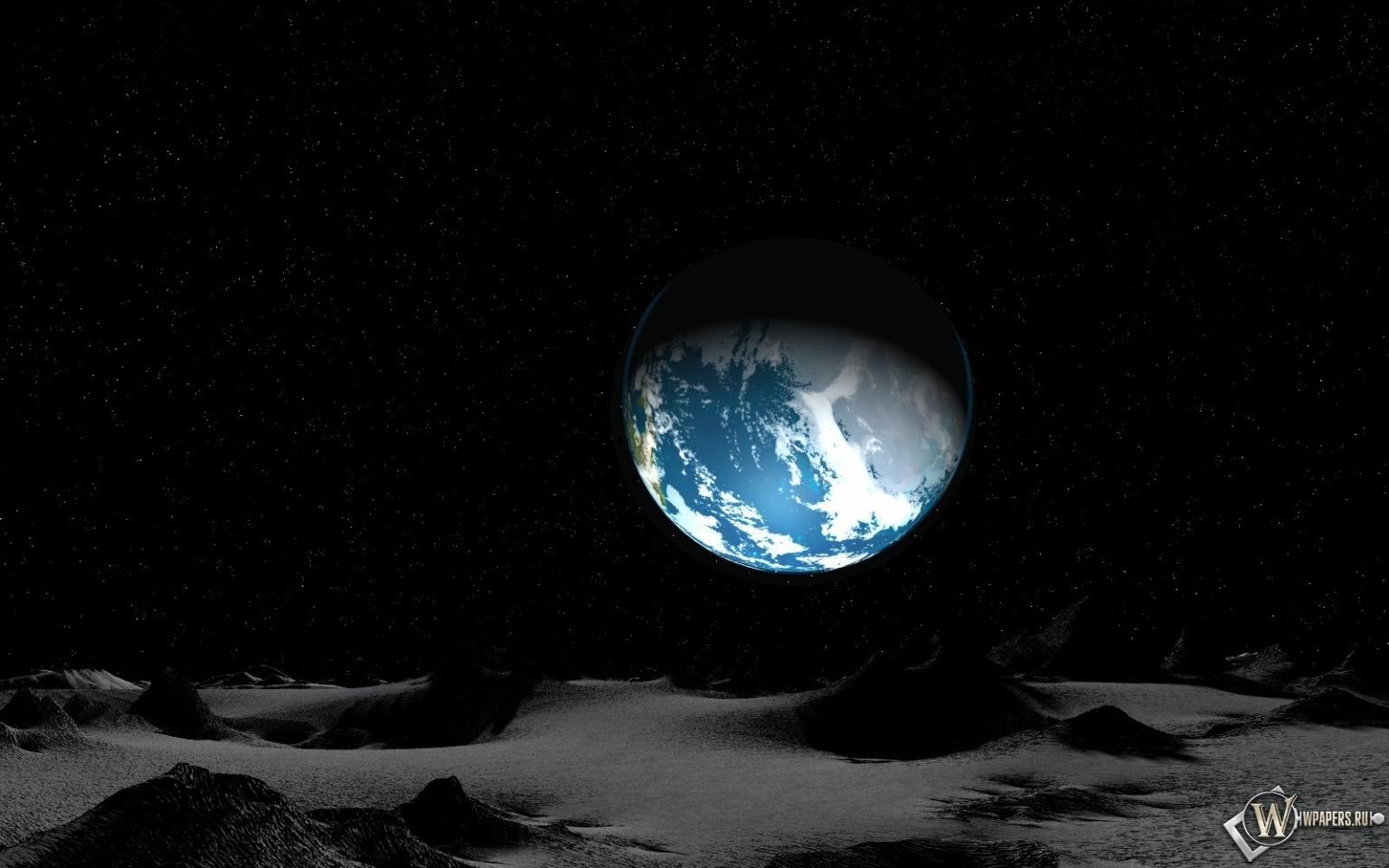 Земля с луны 1536x960