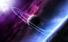 Обои Вселенная: Кольца, Космос, Планета, Космос
