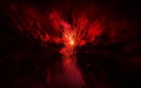 Обои Красный космос: Космос, Звёзды, Свечение, Взрыв, Космос