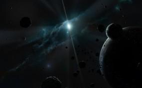 Обои Тёмный космос: Свет, Космос, Планеты, Астероиды, Туманность, Космос