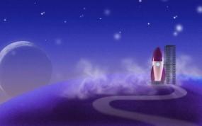 Обои Ракета на космодроме: Ракета, Космос, Звёзды, Синий, Космос