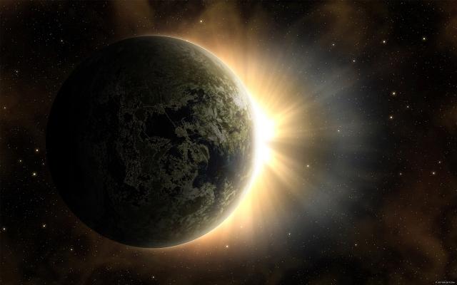 Планета у солнца