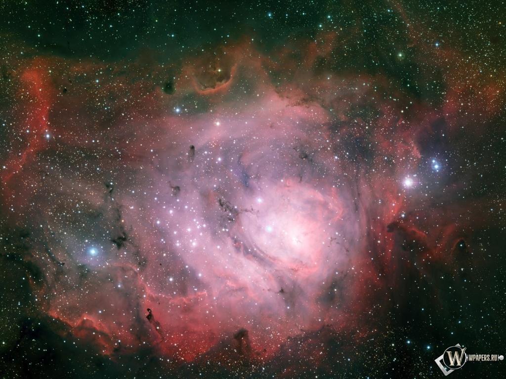 Туманность Лагуна 1024x768