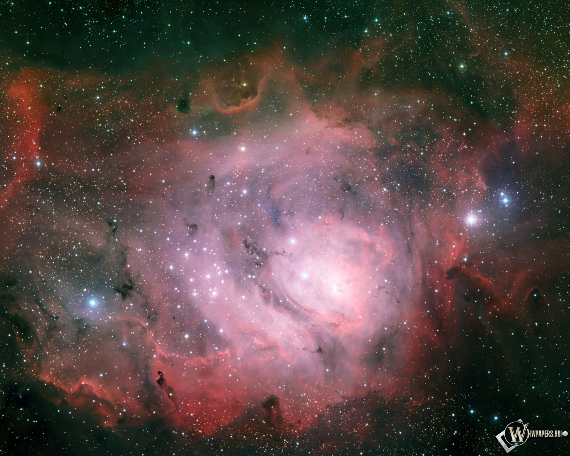 Туманность Лагуна 1920x1536
