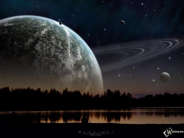 3D Сатурн