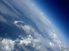 Обои Земля: Атмосфера, Орбита, Над облаками, Космос