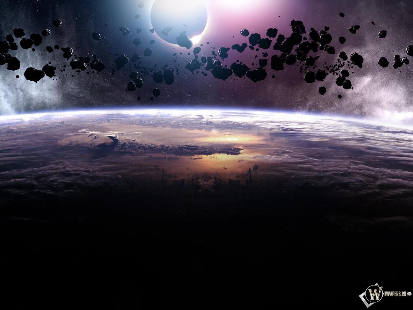 Астероиды 1400x1050