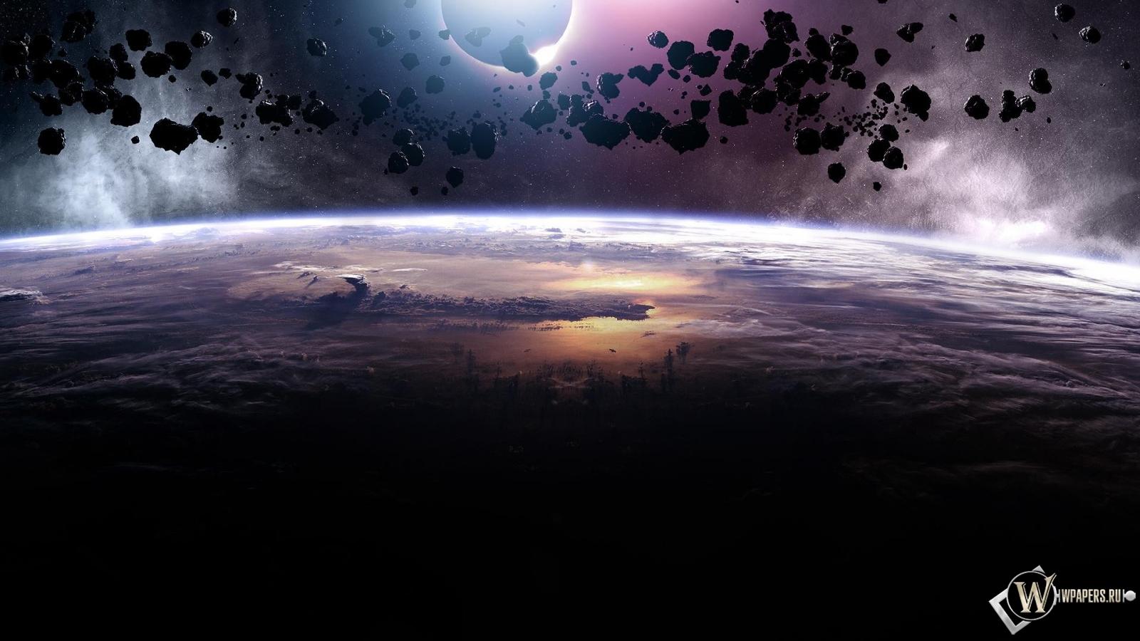 Астероиды 1600x900