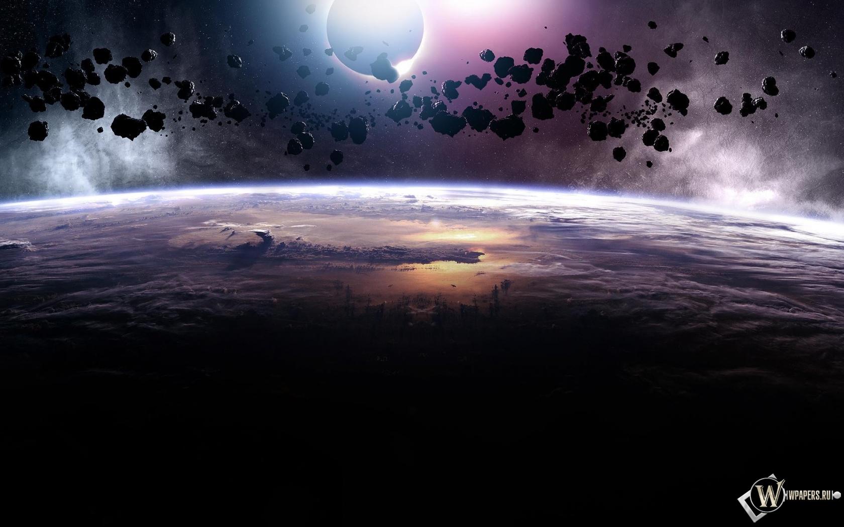 Астероиды 1680x1050