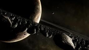 Обои Кольцо метеоритов: Планета, Кольцо, Метеориты, Космос