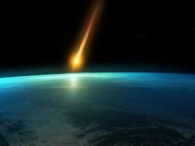 Обои Падающий метеорит: Космос, Земля, Метеорит, Падение, Космос