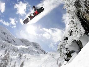 Обои Сноубординг: Спорт, Прыжок, Сноуборд, Спорт