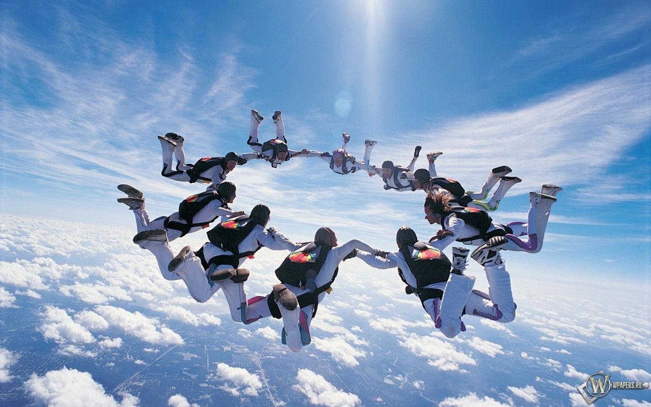 Прыжки с парашютом 1280x800