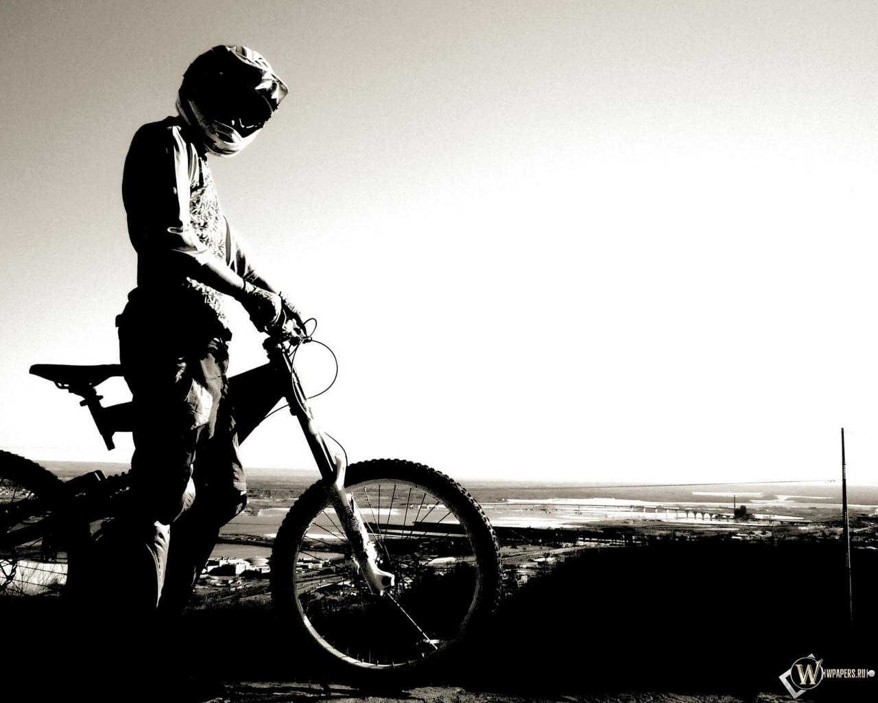 Велосипедист 1280x1024