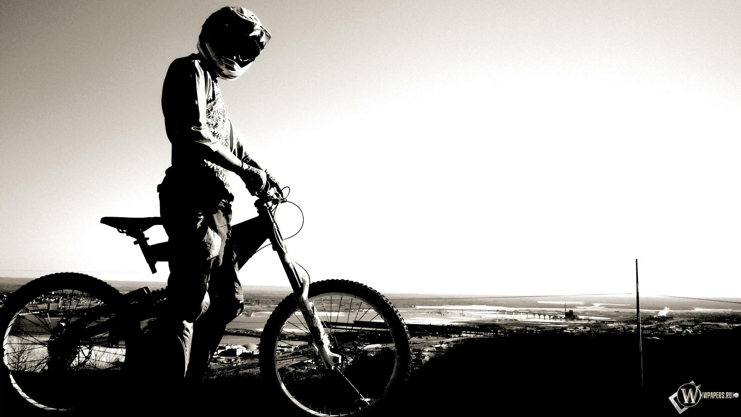 Велосипедист 2560x1440