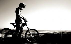 Обои Велосипедист: Небо, Спорт, Горизонт, Велосипед, Спорт
