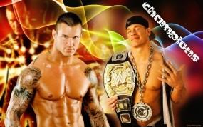 Обои Randy Orton vs John Cena: Спорт, Реслинг, Спорт