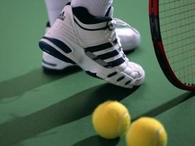Обои Теннисный набор: Большой теннис, Ракетка, Кроссовки, Спорт
