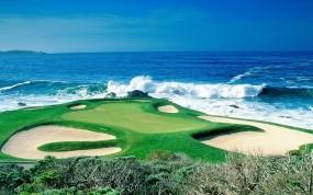 Обои Поле для гольфа: Волны, Море, Гольф, Сорт, Спорт