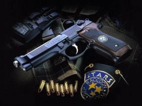 Обои S.T.A.R.S. кастомная Beretta M 29FS: Оружие, Пистолет, Полиция, Beretta, Оружие